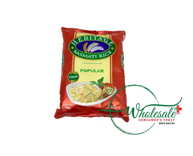 Heritage Popular Basmati Rice 1kg