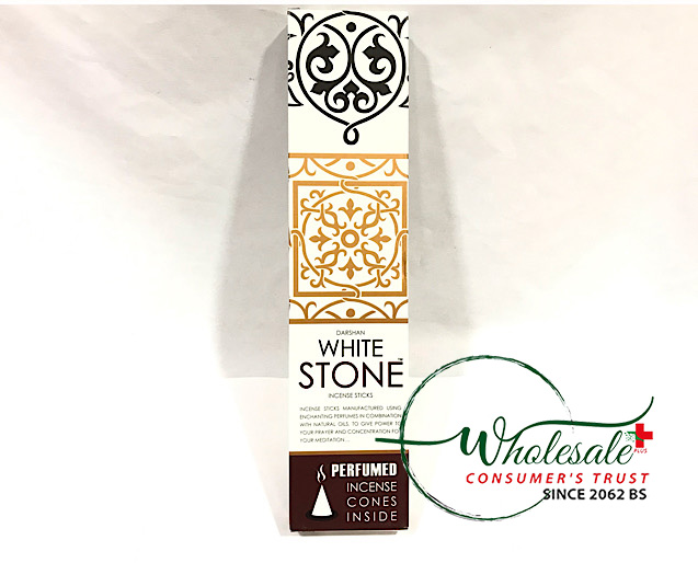 White Stone Incense Sticks 100g