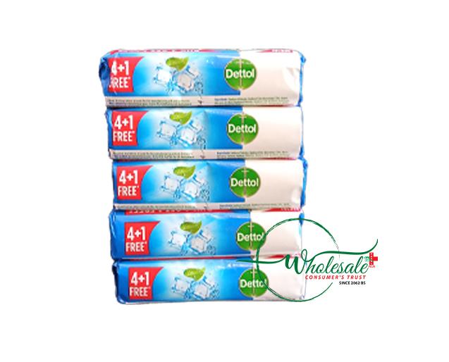 Dettol Soap Intense Cool (Buy 4 + 1 Free) 625gm